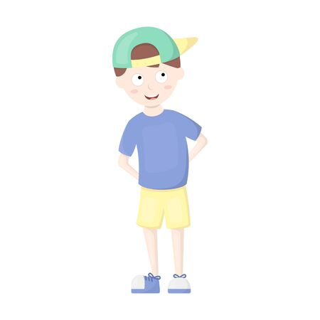 young schoolchild: Boy icon of vector illustration for web and mobile design