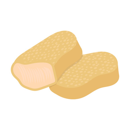 nuggets: Nuggets vector illustration icon in cartoon design