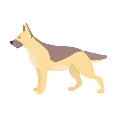 alsatian: German shepherd vector illustration icon in cartoon design Illustration
