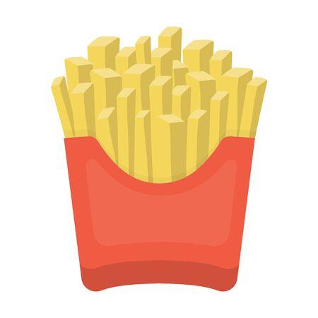 estrogen: French fries vector illustration icon in cartoon design Illustration