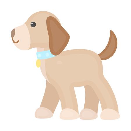 dog walking: Walking the dog vector illustration icon in cartoon design Illustration