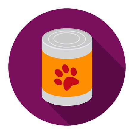 big dog: Dog food vector icon flat style. Singe pet icon from the big dog collection - stock vector Illustration