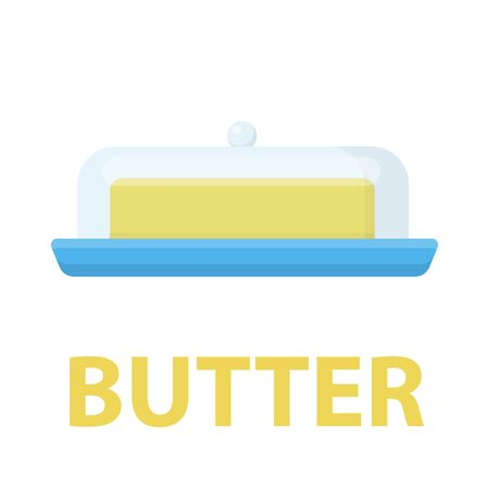 unwrapped: Butter icon cartoon. Single bio, eco, organic product icon from the big milk collection - stock vector Illustration