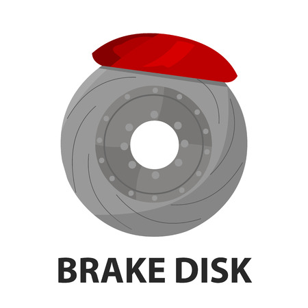 Brake shoe icon cartoon style. Single silhouette auto parts icon from the big car set - stock vector Illustration