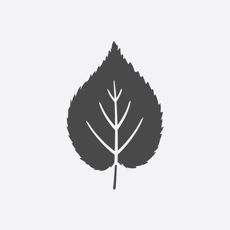 reflection of life: Linden leaf icon black simple style. Singe nature icon from the big forest set.