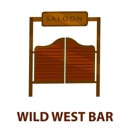 saloon: Saloon icon cartoon. Singe western icon from the wild west collection - stock vector
