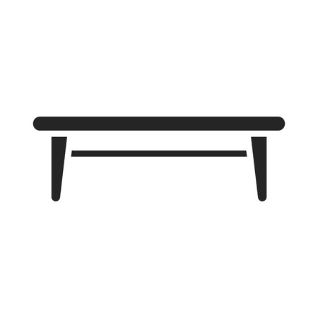interiour: Table icon black simple. One icon of a large interiour collection.