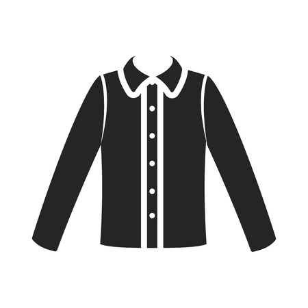 long sleeve shirt: Long sleeve shirt icon black simple. One icon of a large clothes collection. Illustration