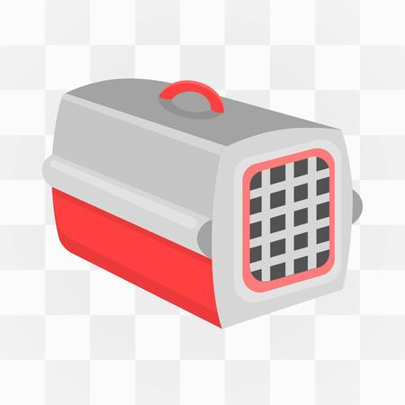 cat carrier: Pet case icon cartoon. One icon of a large cat theme collection.