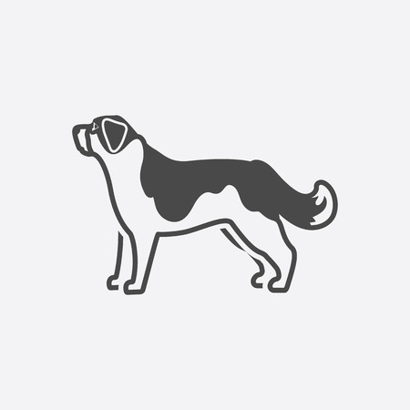 st bernard: St. Bernard icon black simple style. Singe dog icon from the dog breads set - stock vector