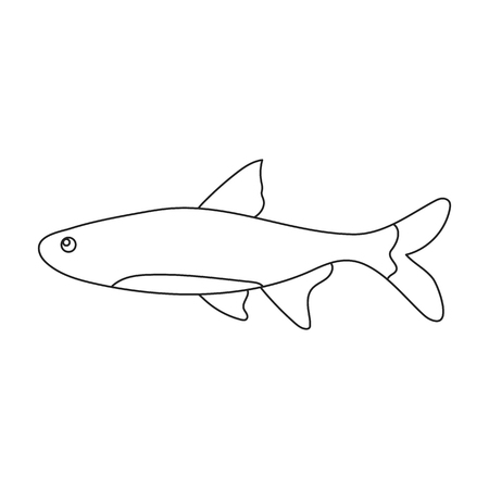 neon fish: Neon fish icon line Singe aquarium fish icon from the sea,ocean life collection.