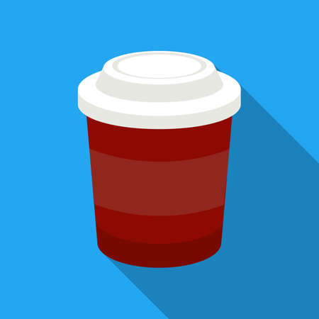 decaf: Coffee vector illustration icon in flat design
