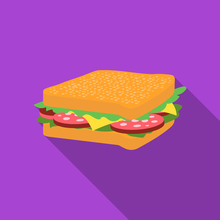 uncooked: Sandwich vector illustration icon in flat design Illustration