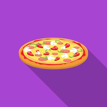 unhealthy diet: Sandwich vector illustration icon in flat design Illustration