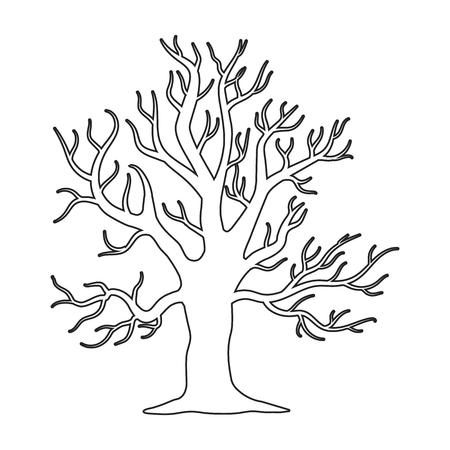 Alter Baum Vektor-Illustration Symbol in Line-Design