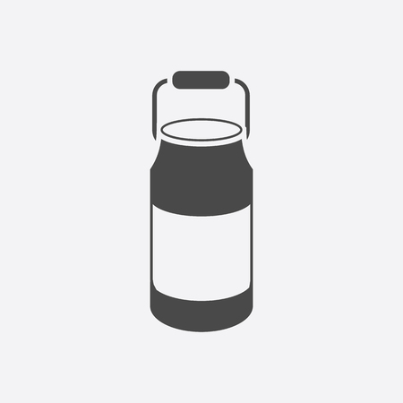 milk cans: Milk cans icon black. Single bio, eco, organic product icon from the big milk collection. Illustration