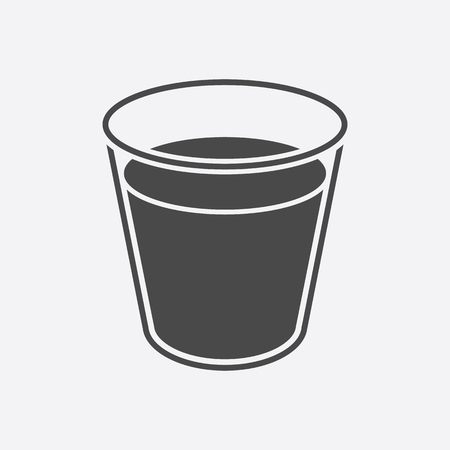 pasteurized: Glass milk icon black. Single bio, eco, organic product icon from the big milk collection. Illustration