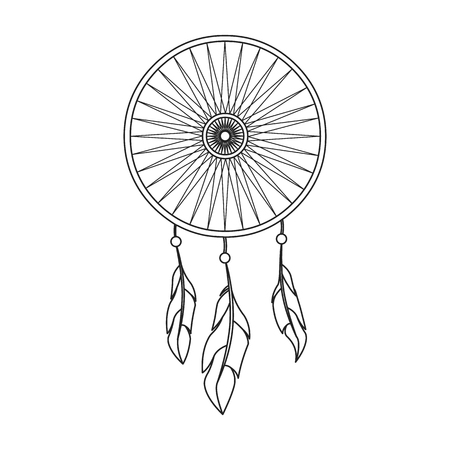 Dreamcatcher icon line. Singe western icon from the wild west collection.