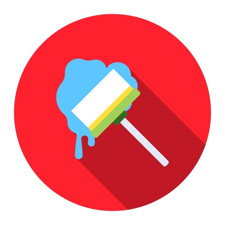 squeegee: Squeegee flat icon. Illustration for web and mobile.