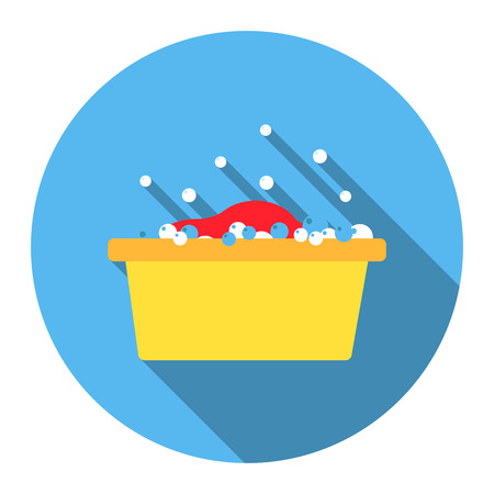 disinfection: Bowl flat icon. Illustration for web and mobile. Illustration