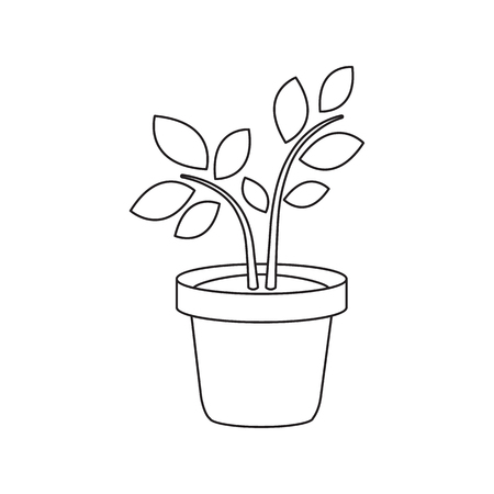 Plant icon of vector illustration for web and mobile design Illustration
