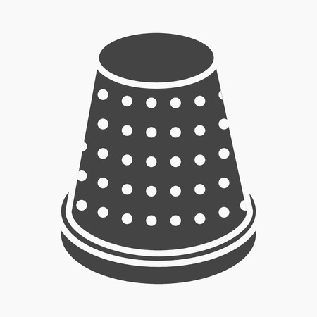 thimble: Thimble icon of vector illustration for web and mobile design