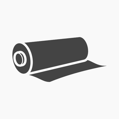 繊維ロール web およびモバイル デザインのベクトル図のアイコン  イラスト・ベクター素材