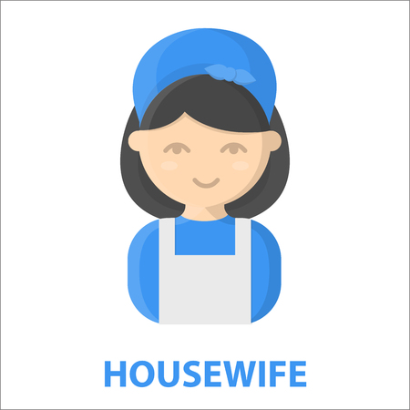 homemaker: Housewife cartoon icon. Illustration for web and mobile.
