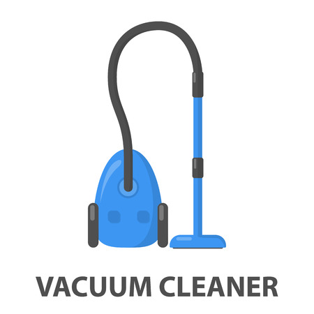 vac: Vacuum cartoon icon. Illustration for web and mobile.