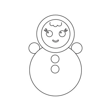 wobbly: Roly Poly line icon. Illustration for web and mobile. Illustration