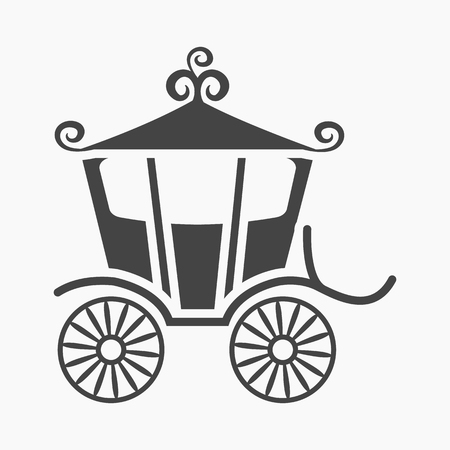 chariot: Carriage icon of vector illustration for web and mobile design Illustration