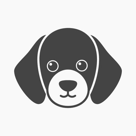 muzzle: Dog muzzle vector illustration icon in black design