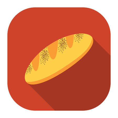 french toast: Bread icon of vector illustration for web and mobile design