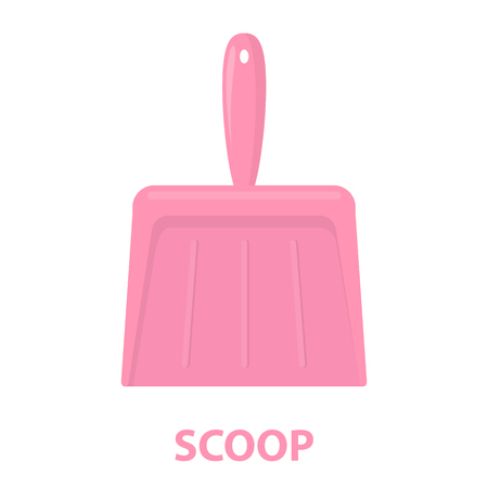 dustpan: Dustpan cartoon icon. Illustration for web and mobile.