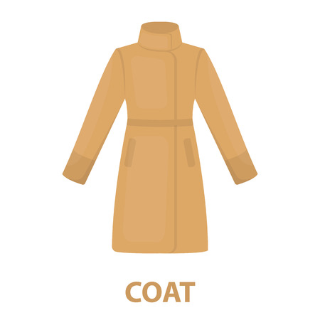 the trench: Coat icon of vector illustration for web and mobile design