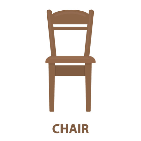 wood chair: Chair icon of vector illustration for web and mobile design Illustration
