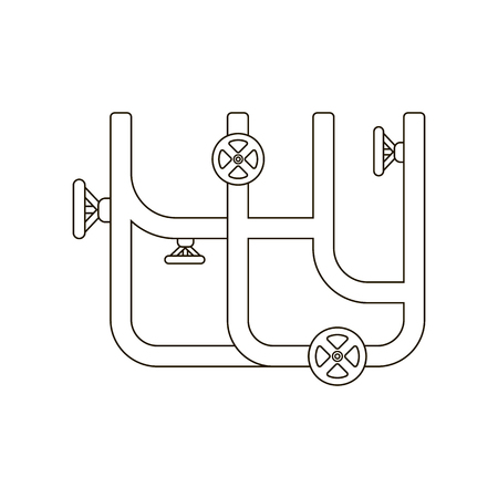 drains: Water pipe icon line. One icon of a large plumbing line.