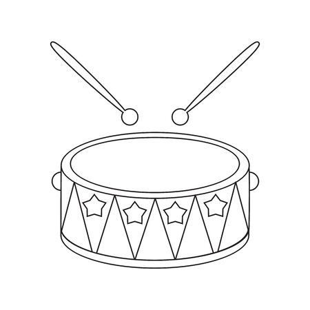 Drum Line Icon Illustration For Web And Mobile