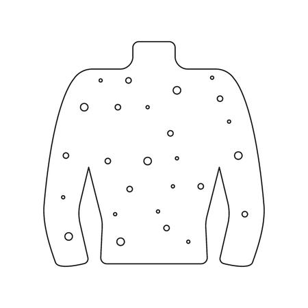 Rash icône dessin animé. icone malade unique de la grande collection malade, la maladie.
