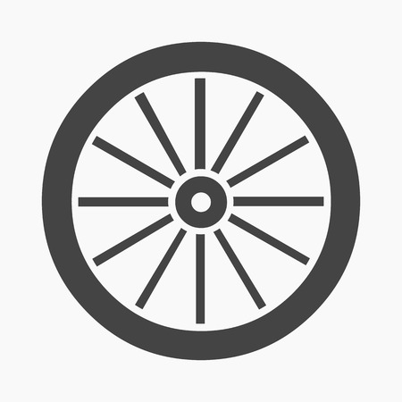 Cart-wheel icon cartoon. Singe western icon from the wild west collection.