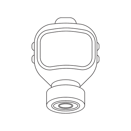 biological warfare: Fire gas mask icon black style. Single silhouette fire equipment icon from the big fire Department line.