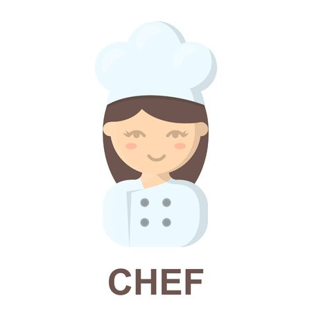 culinary skills: Cook cartoon icon. Illustration for web and mobile.
