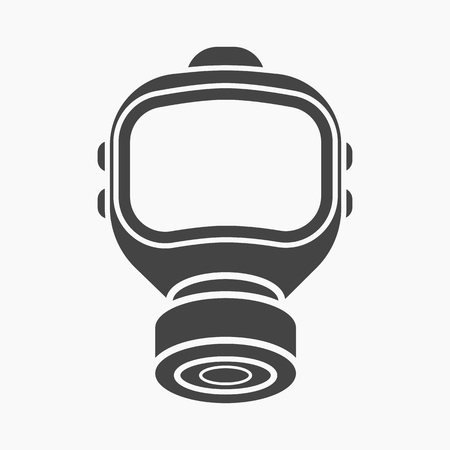 biological warfare: Fire gas mask icon black style. Single silhouette fire equipment icon from the big fire Department simple.