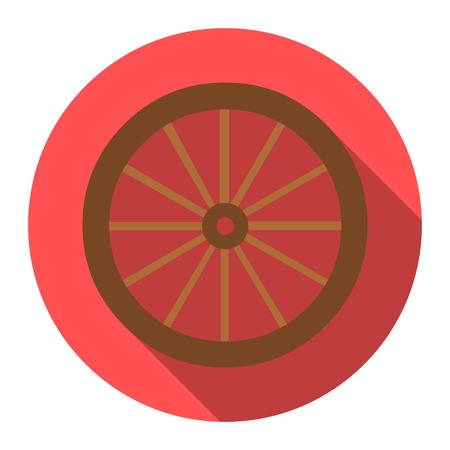 cartwheel: Cart-wheel icon design. Singe western icon from the wild west flat. Illustration