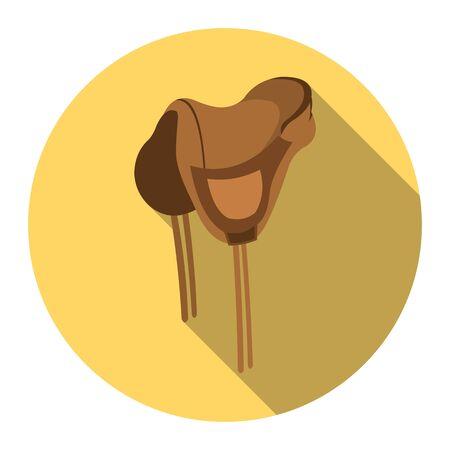 stirrup: Saddle icon design. Singe western icon from the wild west flat. Illustration