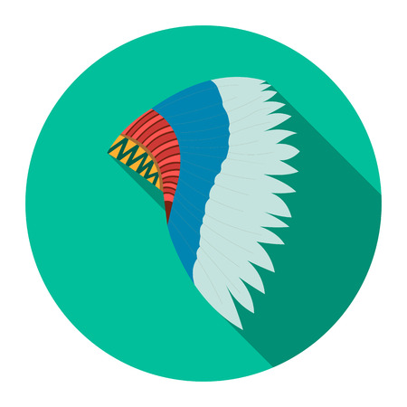 mohawk: Mohawk indian icon design. Singe western icon from the wild west flat.