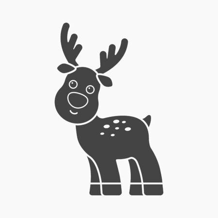 white tail deer: Deer black icon. Illustration for web and mobile. Illustration