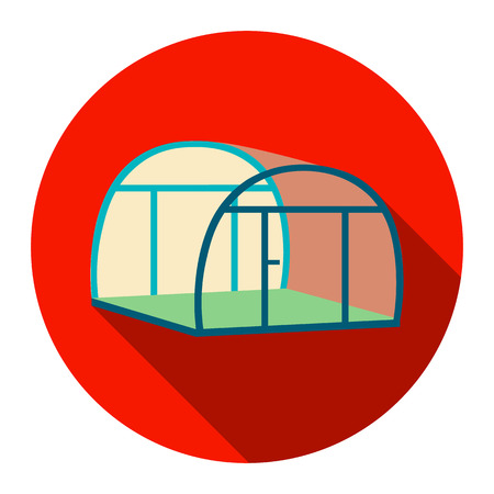 Greenhouse icoon van vector illustratie voor het web en mobiele apparatuur