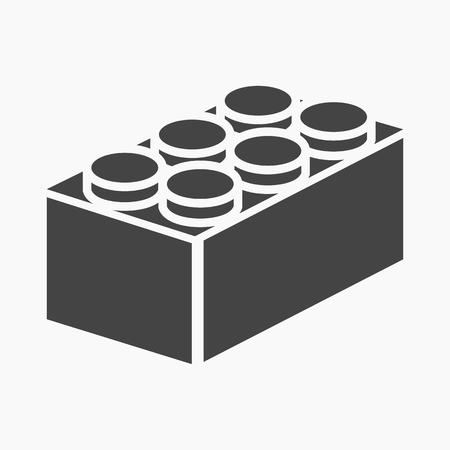building block: Building block black icon. Illustration for web and mobile. Illustration