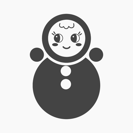 tilting: Roly Poly black icon. Illustration for web and mobile.